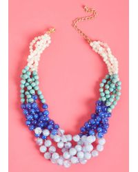 ModCloth - Boldly Go Beaded Necklace - Lyst