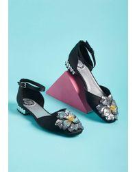 Miss L-fire - Perfect Petunias Embellished Flat - Lyst