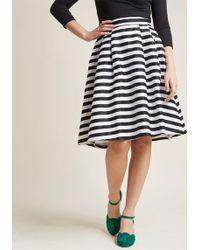 ModCloth - Dusk And Stunner Midi Skirt In Black - Lyst