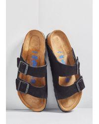 11b113258046 Lyst - Birkenstock Strappy Camper Sandal In Rose Gold - Narrow