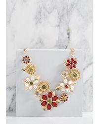 ModCloth - Abundant Blossoms Statement Necklace - Lyst