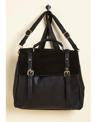 ModCloth - Stop, Rock, And Roll Convertible Bag In Black - Lyst