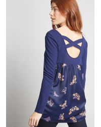 ModCloth - Mixing Mastery Twofer Top - Lyst