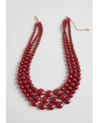 ModCloth - Strong, Vibrant Type Beaded Necklace - Lyst