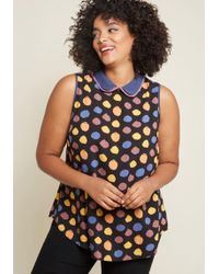 ModCloth - Doubly Delightful Sleeveless Top - Lyst