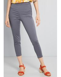 9384ef334fd Lyst - ModCloth Unbridled Enthusiasm Cropped Pants in Blue