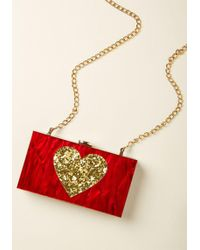 ModCloth - Heart It All Before Clutch - Lyst