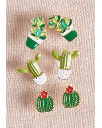 ModCloth - Windowsill Whimsy Cactus Earring Set - Lyst