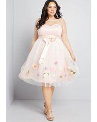 46e94dbc0a1 Lyst - Collectif Fluttering Butterflies Sleeveless Dress in Green
