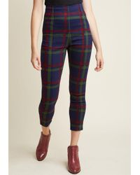Collectif - So Glad It's Plaid High-waisted Trousers - Lyst
