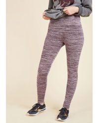 ModCloth | Heed Your Warming Fleece-lined Leggings In Lilac | Lyst