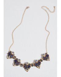 ModCloth - Nostalgic Glimmer Statement Necklace - Lyst