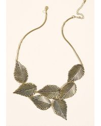 ModCloth - Leafing Town Necklace - Lyst