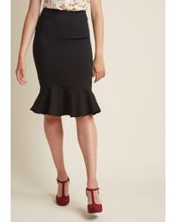Collectif - Finest Flounce Stretch Pencil Skirt - Lyst