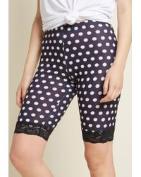 ModCloth - Across Town Shorts In Black Dots - Lyst