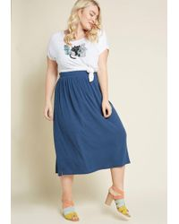 ModCloth - Simplistic Swing Ribbed Knit Skirt - Lyst