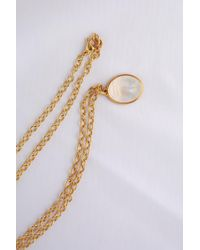 Darlene De Sedle - Scarab Necklace With Open Cable Chain - Lyst