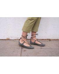 Chloé - Size 36 Suede Ballerina Flats - Lyst