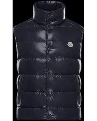 150177eff Moncler Tib Navy Quilted Gilet in Blue for Men - Lyst