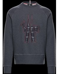 Moncler Grenoble - Gray Sweatshirt With Grenoble Logo - Lyst