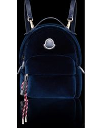 Moncler - Leather-trimmed Velvet Backpack - Lyst