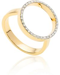 Monica Vinader - Naida Circle Open Ring - Lyst
