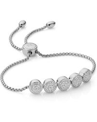Monica Vinader - Fiji Button Friendship Chain Bracelet - Lyst