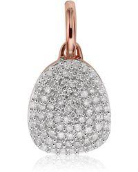 Monica Vinader - Nura Pebble Diamond Pendant Charm - Lyst