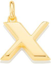 Monica Vinader - Alphabet X Pendant Charm - Lyst