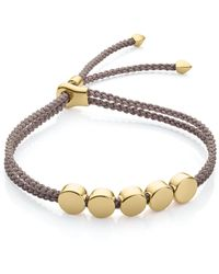 Monica Vinader - Linear Bead Friendship Bracelet - Lyst