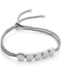 Monica Vinader - Linear Bead Friendship Bracelet - Lyst
