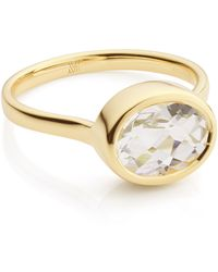Monica Vinader - Candy Oval Ring - Lyst