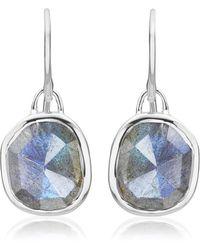 Monica Vinader - Siren Wire Earrings - Lyst