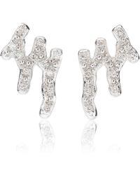 Monica Vinader - Riva Waterfall Rose Gold Vermeil Diamond Earrings - Lyst