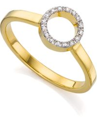 Monica Vinader | Naida Mini Circle Open Ring | Lyst