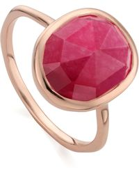 Monica Vinader - Siren Medium Stacking Ring - Lyst