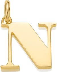 Monica Vinader - Alphabet Pendant N - Lyst