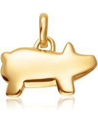 Monica Vinader - Chinese Zodiac Bessie The Pig Pendant Charm - Lyst