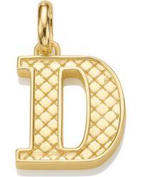 Monica Vinader - Alphabet Pendant D - Lyst