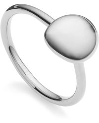 Monica Vinader Nura Small Pebble Stacking Ring - Metallic