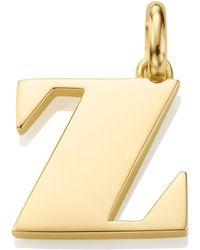 Monica Vinader - Alphabet Pendant Z - Lyst