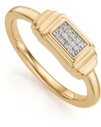 Monica Vinader - Baja Deco Diamond Ring - Lyst