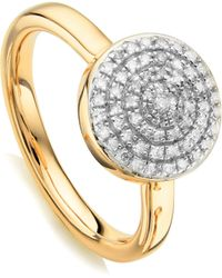 Monica Vinader - Fiji Large Diamond Button Stack Ring - Lyst
