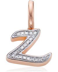 Monica Vinader - Diamond Alphabet Pendant Z - Lyst