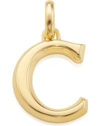 Monica Vinader - Alphabet C Pendant Charm - Lyst
