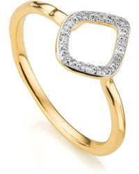 Monica Vinader - Riva Mini Kite Stacking Ring - Lyst