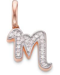 Monica Vinader - Alphabet M Diamond Pendant Charm - Lyst
