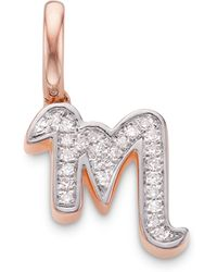 Monica Vinader - Diamond Alphabet Pendant M - Lyst
