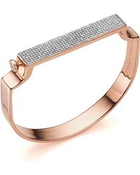 Monica Vinader - Signature Diamond Bangle - Lyst