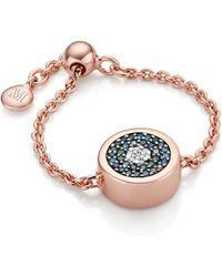 Monica Vinader - Evil Eye Adjustable Friendship Diamond Ring - Lyst